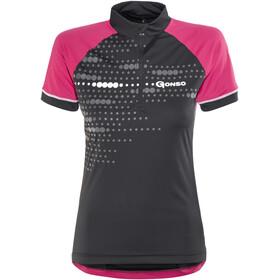 Gonso Kama Kortärmad cykeltröja Dam pink/svart